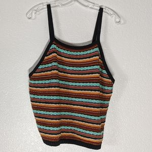 Forever 21+ Striped Textured Knit Tank Top